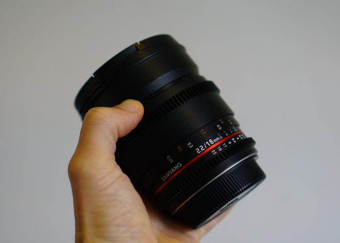 Samyang 16mm T2.2 Lens (Canon EF mount) - 1