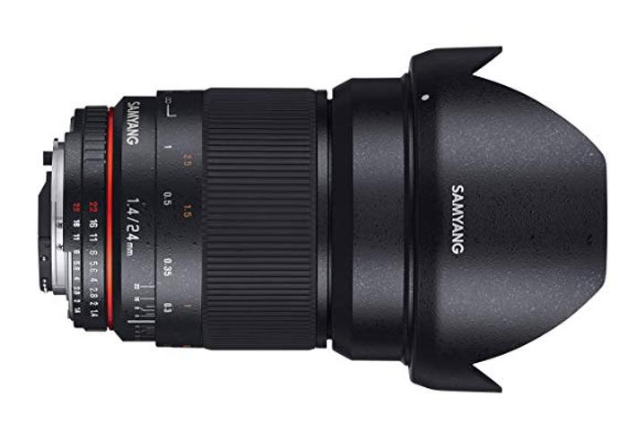 Samyang 24mm 1.4 manual focus lens - Canon EF mount - 1