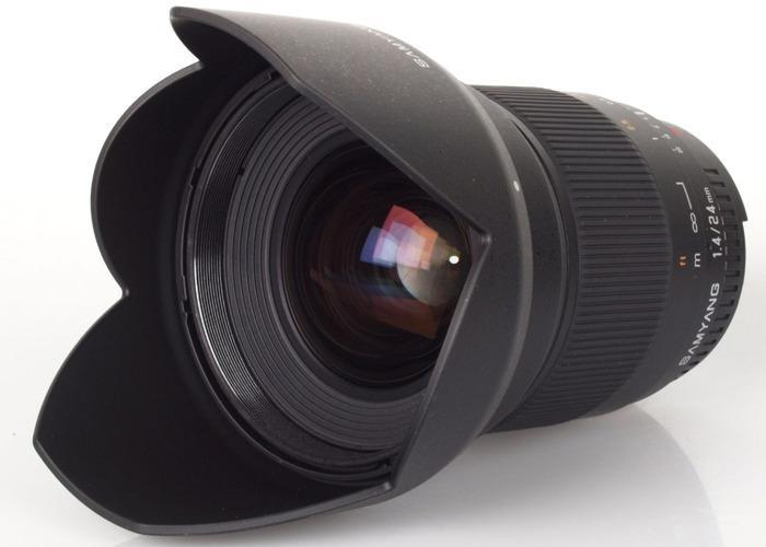 Samyang 24mm 1.4 manual focus lens - Canon EF mount - 2