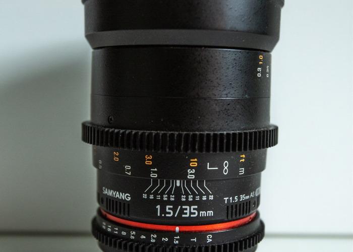 SAMYANG 35MM T1.5 - CANON EF - 1
