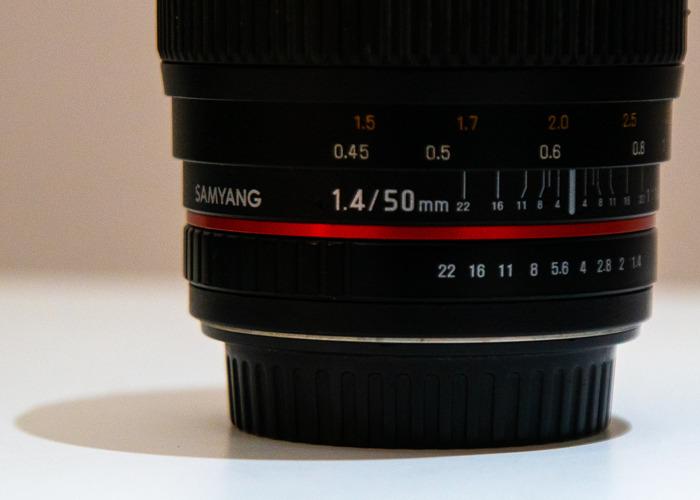 Samyang 50mm f/1.4 AS UMC Lens (Canon Fit) - 2