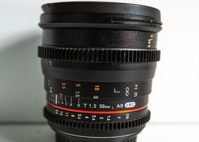 SAMYANG 50MM T1.5  - 1