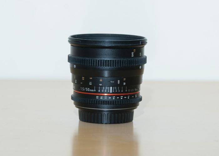 Samyang 50mm T1.5 EF prime lens - 1