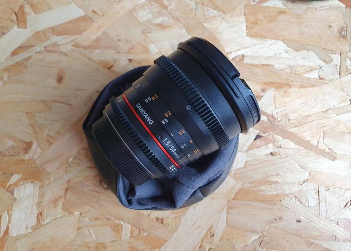 Samyang 50mm T1.5 VDSLR AS UMC EF Lens - EF Mount - 1