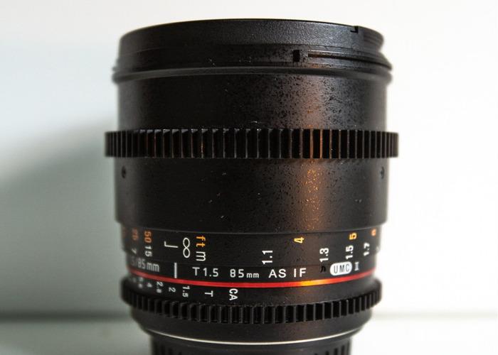 SAMYANG 85MM T1.5 - CANON EF - 1