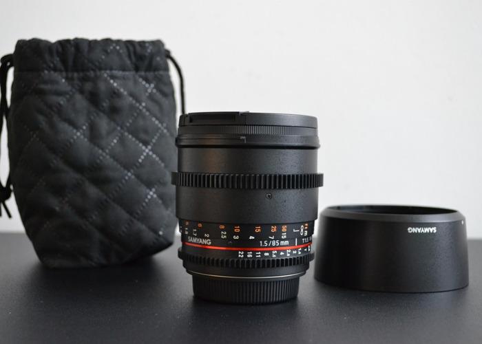 Samyang 85mm T1.5 Cine Lens - Canon EF Mount - 1
