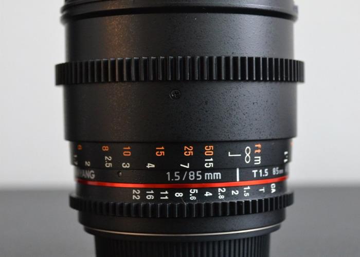Samyang 85mm T1.5 Cine Lens - Canon EF Mount - 2
