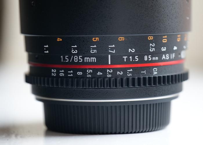 Samyang 85mm T1.5 Cine Prime for Canon EF Full Frame/APSC - 2