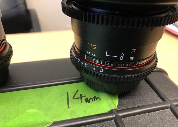 Samyang Cine 6 x Prime lens kit EF fit - 2