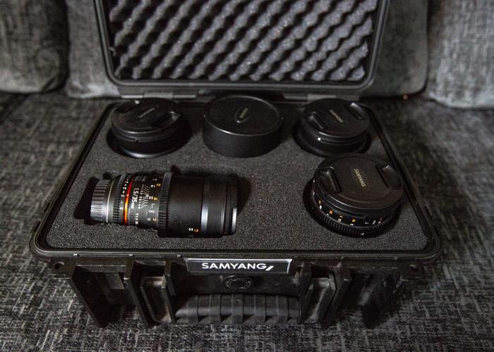 Samyang Cine Lens Kit - 14mm, 24mm, 35mm, 50mm, 85mm - 1