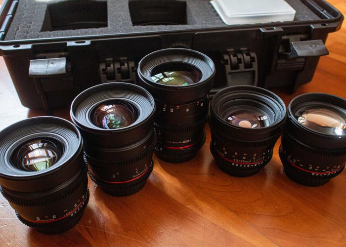Samyang Cine Prime Lens Set - EF Mount / E Mount - 1