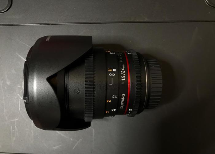 Samyang Prime Lens 24mm Canon EF Mount - 1