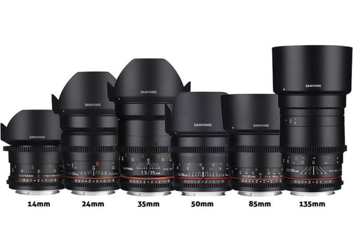 Samyang Sony Cine Prime Lens Kit - Choice of 3 Lenses.  - 1