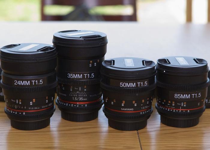 Samyang VDSLR 24/35/50/85mm Cine Lens Kit - 1