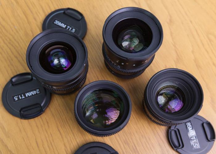 Samyang VDSLR 24/35/50/85mm Cine Lens Kit - 2
