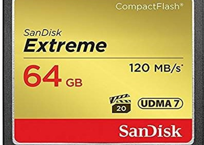 1 x 64GB SanDisk Extreme Compact Flash Memory Card - 1