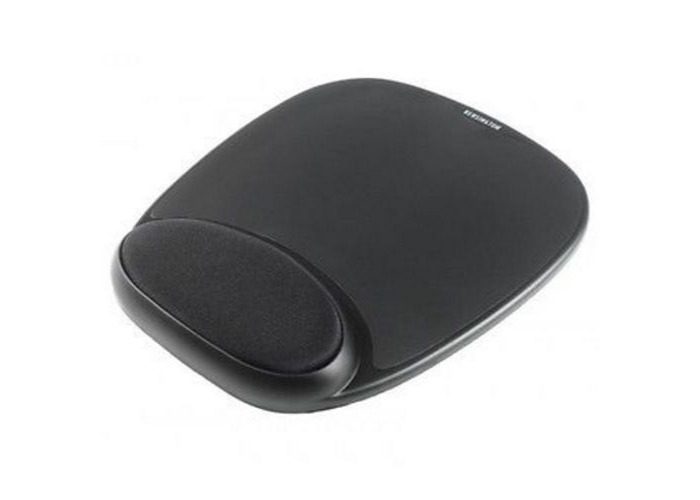 Sandberg (520-23) Mouse Pad with Ergonomic Wrist Rest, Black, 18 x 220 x 256 mm, 5 Year Warranty - 1