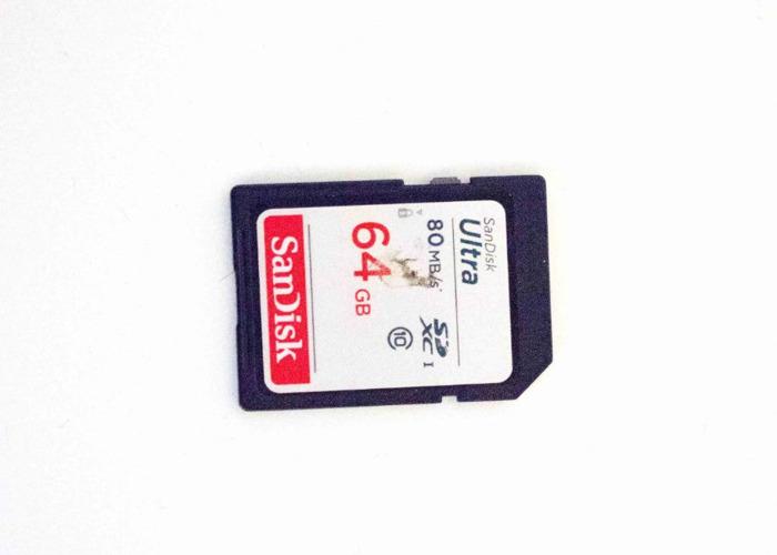 Sandisk Ultra SDXC UHS-1 Card U1 class10 64GB 80MB's - 1