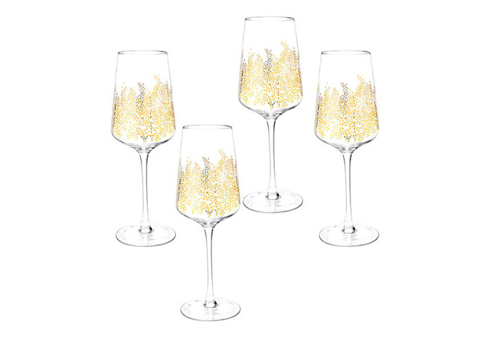 Sara Miller Chelsea Collection Set of 4 Wine Glasses - 1