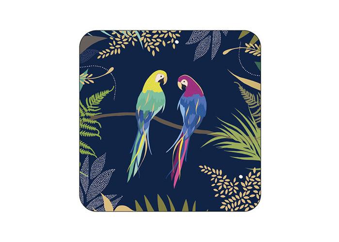 Sara Miller Parrot Set of 6 Coasters - 2