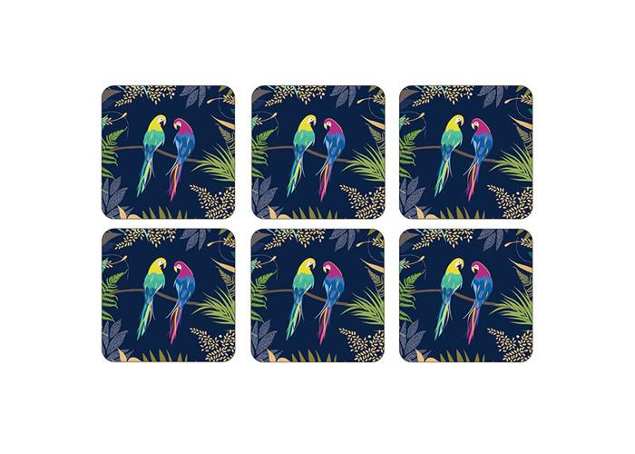 Sara Miller Parrot Set of 6 Coasters - 1