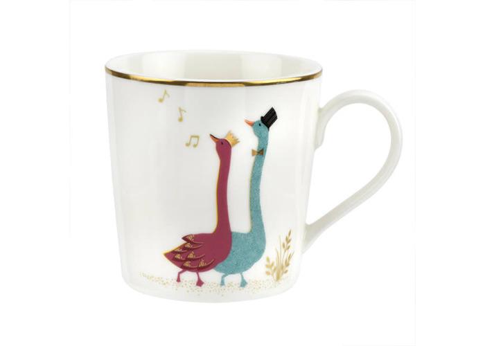 Sara Miller Piccadilly Gliding Geese Mug - 1