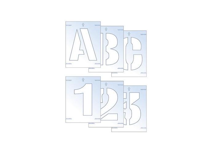 Scan 9403 Letter & Number Stencil Kit 25mm - 1
