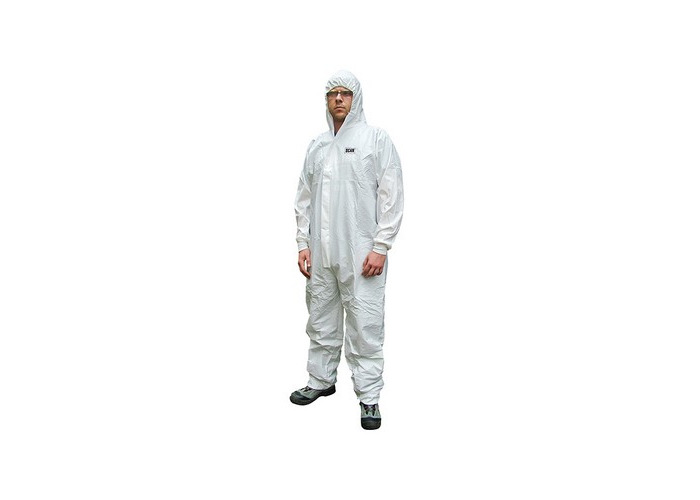 Scan CHEMSPLASH XXL Chemical Splash Resistant Disposable Coverall White Type 5/6 45-49in - XXL - 1