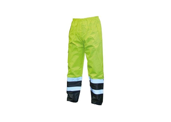 Scan SCAWWHVMTXYB Hi-Vis Motorway Trouser Yellow Black 42-44in - XL - 1