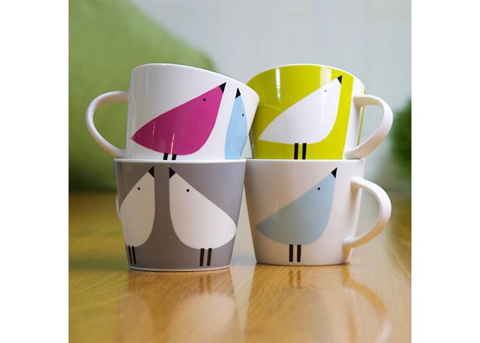 Scion 0.35 Litre Lintu Standard Bucket Mug, Porcelain, Duck Egg/Sunshine/Slate, 12 x 9.5 x 8.1 cm - 2