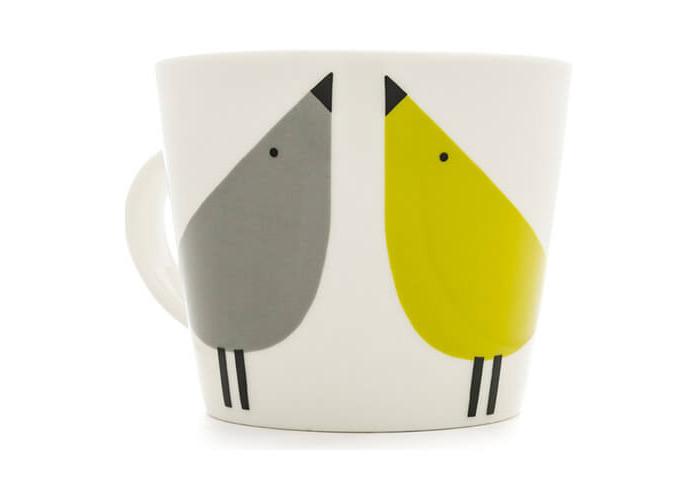 Scion 0.35 Litre Lintu Standard Bucket Mug, Porcelain, Duck Egg/Sunshine/Slate, 12 x 9.5 x 8.1 cm - 1