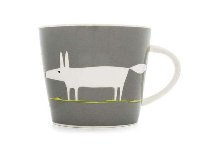 Scion Living Mr Fox Charcoal & Lime 350ml Mug - 1