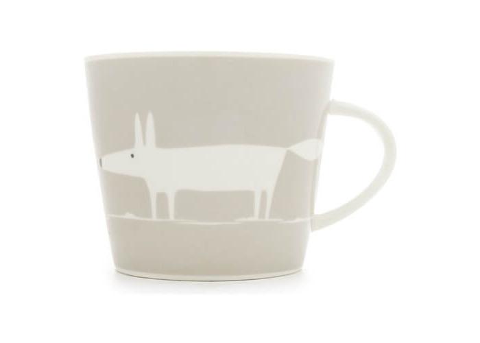 Scion Living Mr Fox Light Grey 350ml Mug - 1