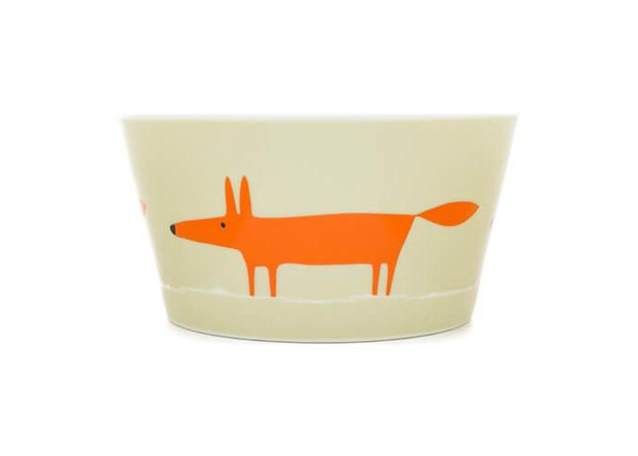 Scion Living Mr Fox Neutral & Orange Bowl - 1