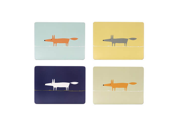 Scion Living Mr Fox Set Of 4 Placemats - 1