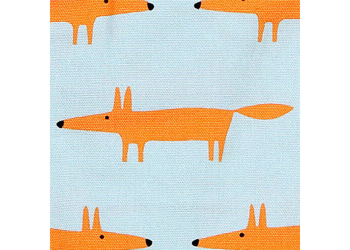 Scion Living Mr Fox Wipe Clean Blue Peg Bag - 2