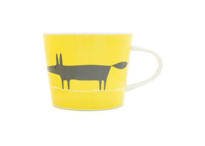 Scion Living Mr Fox Yellow & Charcoal 250ml Mini Mug - 1