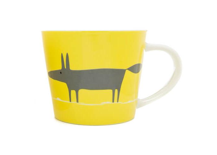 Scion Mr Fox Mug, Charcoal and Yellow, 0.525 Litre - 1