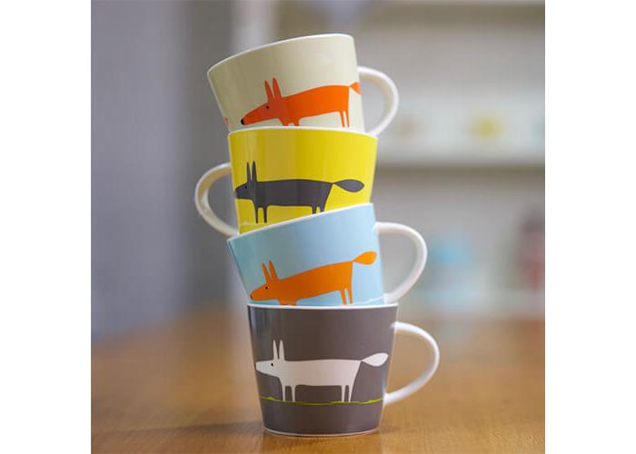 Scion Mr Fox Mug, Charcoal and Yellow, 0.525 Litre - 2