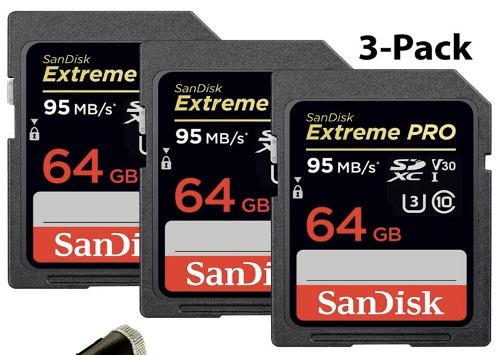 sd cards 64 gb sandisk extreme pro 95 mb Three - 1