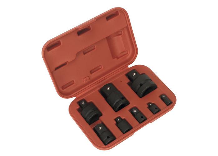 Sealey AK5900B Impact Socket Adaptor Converter Reducer Set 8 Piece - 1