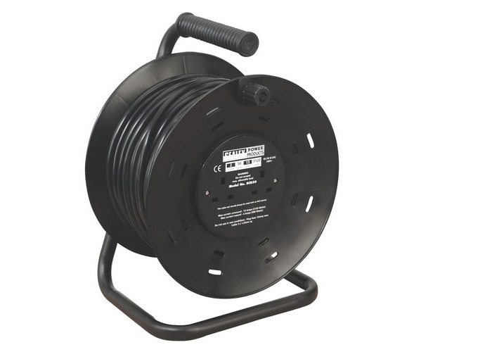 Sealey BCR50 50mtr Cable Reel 2 x 230V Sockets - 1