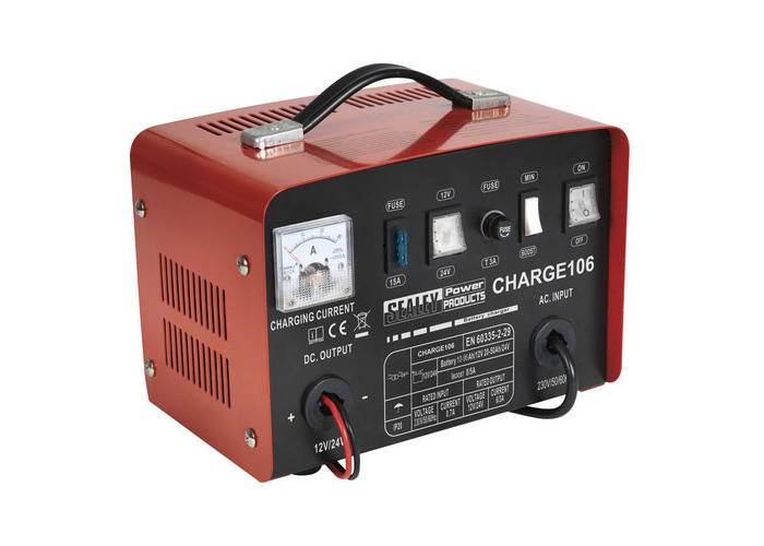 Sealey CHARGE106 8Amp 12/24V Battery Charger - 1