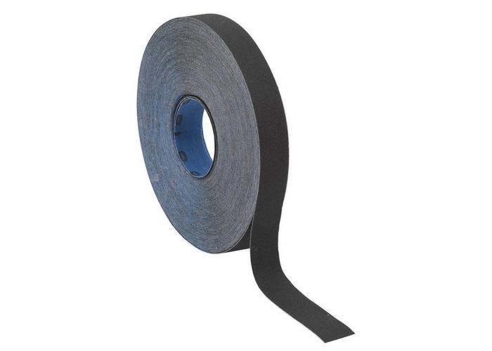 Sealey ER252560 Emery Roll Blue Twill 25mm x 25 Metre 60Grit - 1