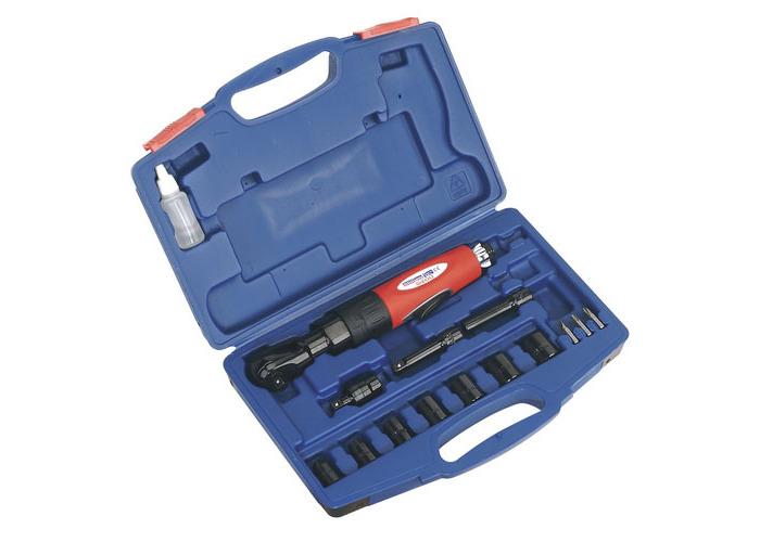 "Sealey GSA20KIT 3/8""Sq Drive Air Ratchet Wrench Kit - 1"