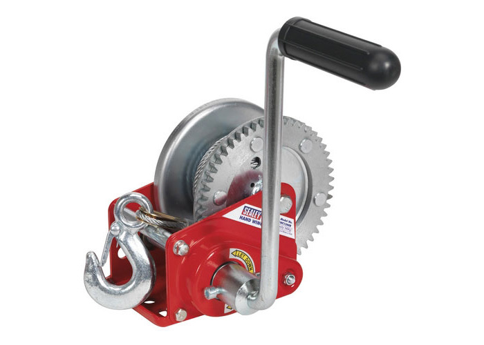 Sealey GWC1200B 540kg Capacity Geared Hand Winch with Brake & Cable - 1