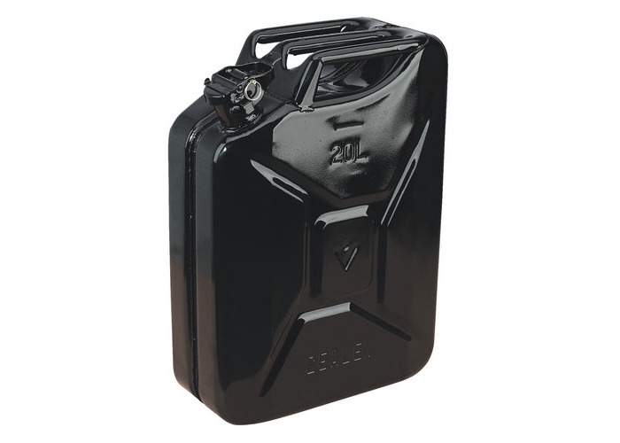 Sealey JC20B 20ltr Jerry Can - Black - 1