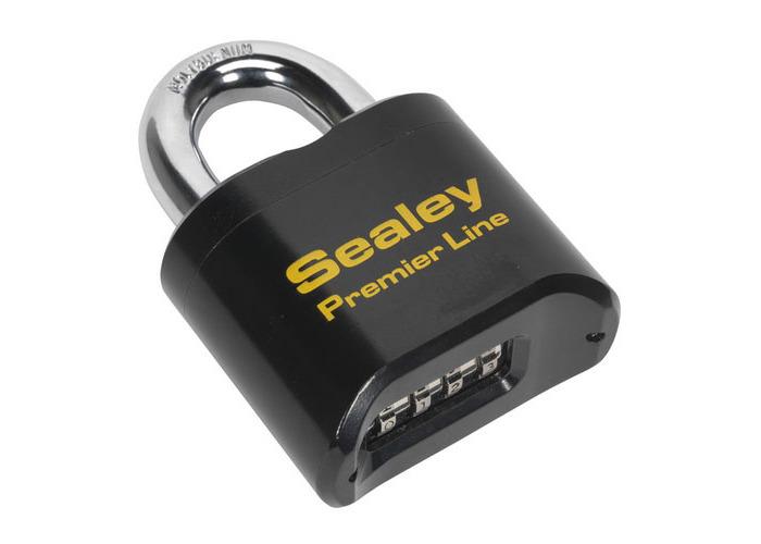 Sealey PL603 62mm Steel Body Combination Padlock - 1