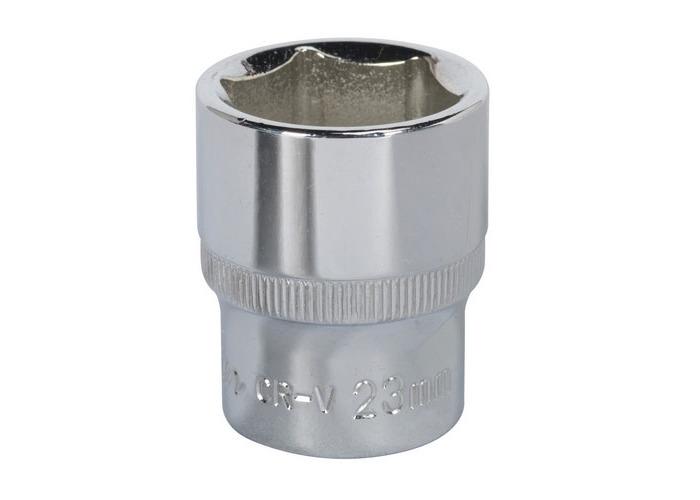 "Sealey SP1223 23mm 1/2""Sq Drive Fully Polished WallDrive Socket - 1"