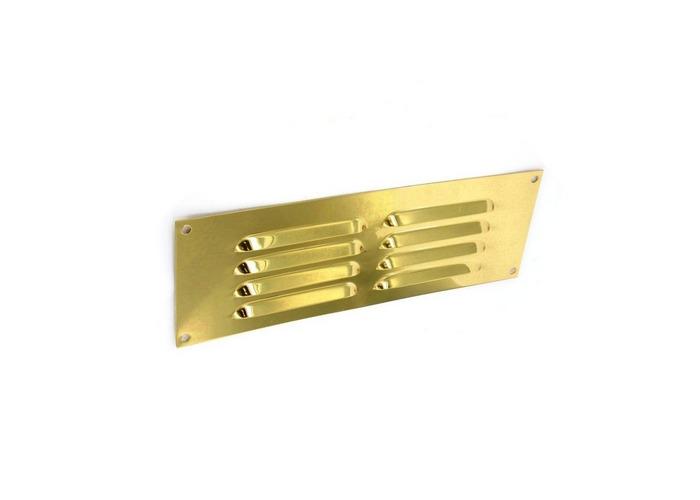 """Securit S3216 Gold Aluminium Louvre Vent 9"""" x 3"""" Pack Of 1 - 1"""